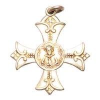 Vintage Gold Filled Apostles of Prayer Cross Pendant
