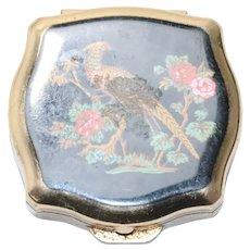 Stratton Vintage Bird Floral Pill Box