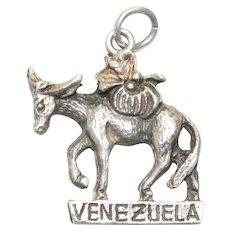 Vintage Sterling Silver Venezuela Donkey Charm