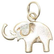 Vintage 14KT Yellow Gold Polished Finish Elephant Charm