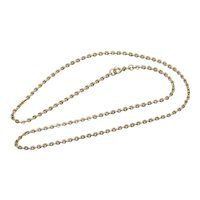Vintage 18K Yellow Gold Cable Chain