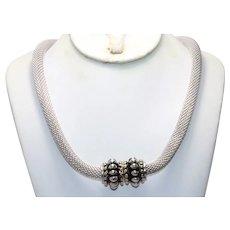Vintage Joseph Esposito Stocko Mesh Choker Necklace