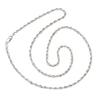 14KT White Gold Rope Chain Necklace