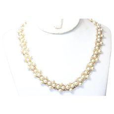 Vintage Napier Costume Synthetic Pearl Beaded Necklace