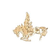 Vintage 14K Yellow Gold Pegasus Pendant