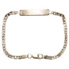 Vintage 14 KT Yellow Gold ID Gucci Link Bracelet