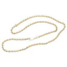 Vintage 14K Yellow Gold Rolo Chain