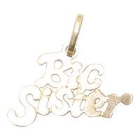 14KT Yellow Gold Big Sister Pendant