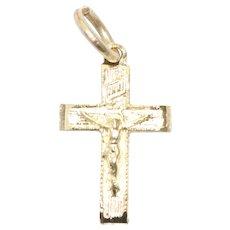 14KT Yellow Gold Jesus Cross Pendant