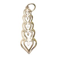 14KT Yellow Gold Heart Stack Pendant