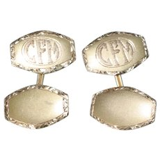 Vintage 14K Yellow Gold Cuff Links