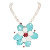 Vintage Floral Designed Necklace