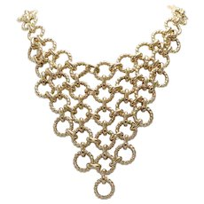 14K Yellow Gold Italian Chandelier Necklace