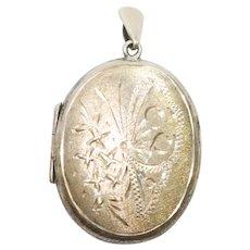 Sterling Silver Butterfly Locket Pendant