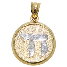 Sterling Silver Overlay With 14 KT Gold Pendant