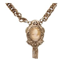 Vintage Gold Filled Cameo Victorian Necklace
