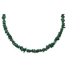 Vintage Malachite Stone Necklace