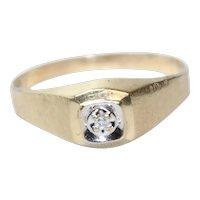 Vintage 14KT Yellow Gold .10 CT Diamond .53 CT Sapphire Bismark Chain Bracelet