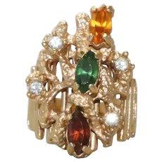 Vintage GE Multi Gemstone Ring