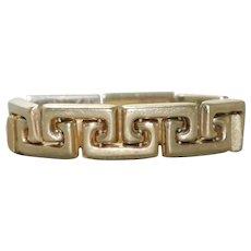 Vintage 14 KT Yellow Gold Greek Key Adjustable Ring