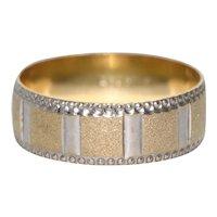 22KT Yellow Gold Diamond Cut Beaded Design Ring