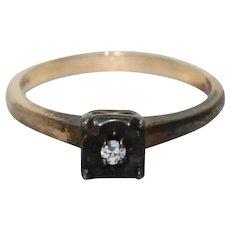 Vintage 14 KT Gold Diamond Ring