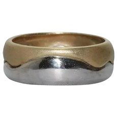 14 KT Two Tone Gold Handmade Ring