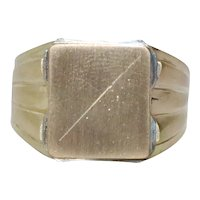 18 KT Yellow Gold Signet Ring