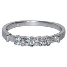 14 KT White Gold .48 CT Round Cut Prong Set Diamond Ring