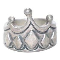 Vintage Sterling Silver Crown Ring