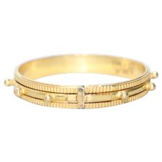22KT Yellow Gold Cross Pronged Spinner Ring