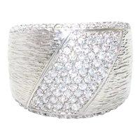 Sterling Silver Diagonal Cubic Zirconia Ring
