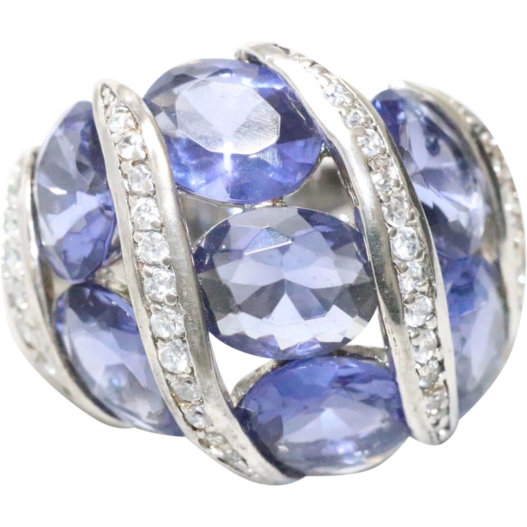 LoopClean Tanzanite 925 Silver Ring Tanzanite Silver Jewelry,Gift For Her,Tanzanite Solitaire Ring Tanzanite Oval Shaped Cut Gemstone Ring