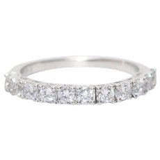 14KT White Gold Prong Set Cubic Zirconia Ring