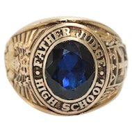 Vintage Jostens 10K Yellow Gold Father Judge School Ring