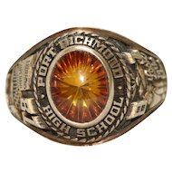 Vintage 10K Yellow Gold Port Richmond High School Ring