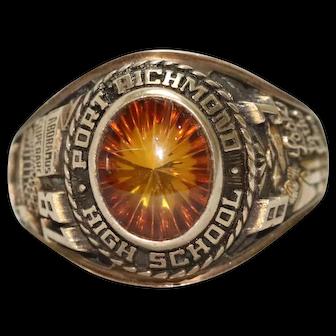 Vintage 10K Yellow Gold Port Richmond High School Ring
