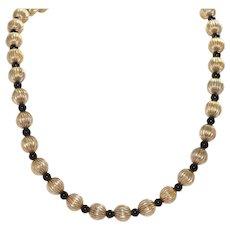 Gold Filled Ball Designed Necklace