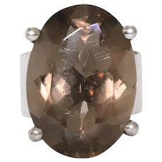 Sterling Silver Smoky Topaz Ring