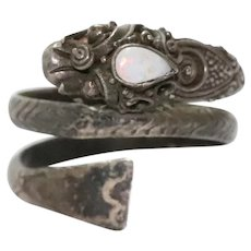 Sterling Silver Opal Dragon Ring
