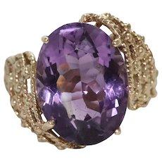 10k Gold Amethyst Ring