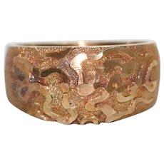 14k Gold Sandblast Ring