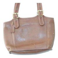 Vintage Coach 9086 Brown Leather Shoulder Bag