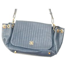 Lena Erziak Blue  Soft Leather Shoulder Bag