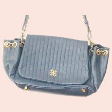 Lena Ezriak Blue  Soft Leather Shoulder Bag