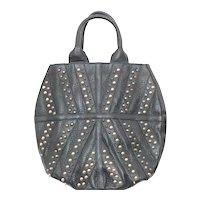 Lena Erziak Black Leather Studded Handbag