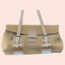 Vintage Gucci Brown Suede Leather Bag