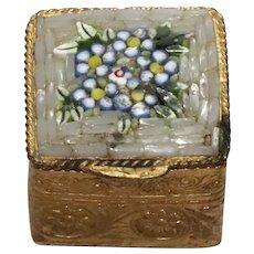 Vintage Mosaic Pill Box
