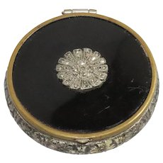 Marcasite Powder Makeup Flower Compact