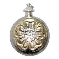 Sterling Silver Flower Perfume Bottle